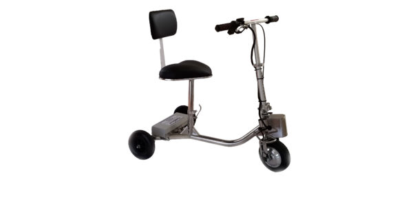 HandyScoot Lightweight Mobility Scooter up right on angle